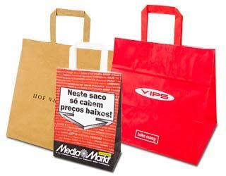 Flat handle bags